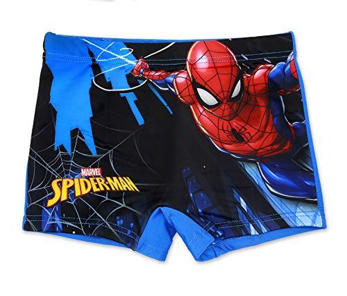 Spiderman Marvel Jungen Badeshorts (116 (6 Jahre), Hellblau)