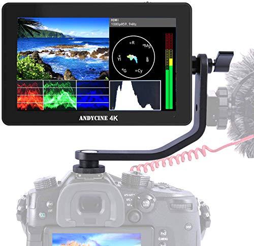 ANDYCINE A6 PLUS Type C DSLR 5.5'' 3D LUT video Monitor Assist 1920x1080 IPS Supporto 4K ingresso uscita HDMI con braccio inclinabile e uscita di alimentazione forma d onda, vettori