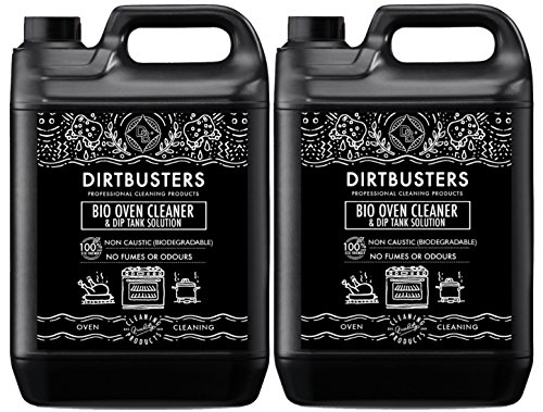 Dirtbusters Bio Oven Cleaner en dip Tank Solution Concentreer 2 X 5 liter Zoals gebruikt door Oven Cleaning Companies Professionele Formule Niet bijtend Veilig maar Krachtig bio afbreekbaar, Eco Friendly