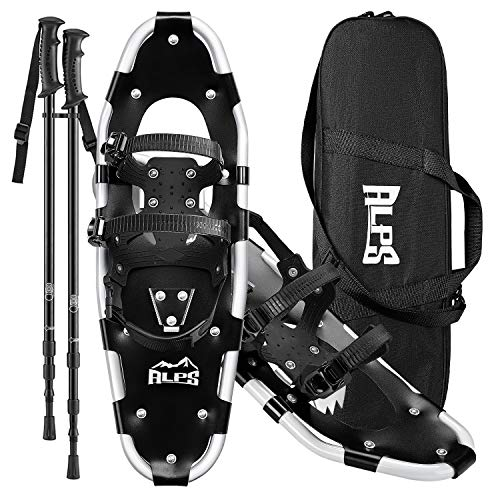ALPS 27 Inches Snowshoes for Men, Women, Kids with Trekking Snow Shoes Poles and Carrying Tote Bag
