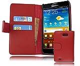Cadorabo Coque pour Samsung Galaxy Note 1 Rouge Cerise Housse de Protection Etui Portefeuille Cover...