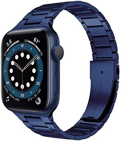 Miimall Compatible Apple Watch 42mm 44mm Series 6 Band Strap Stainless Steel Women Men Bracelet product image
