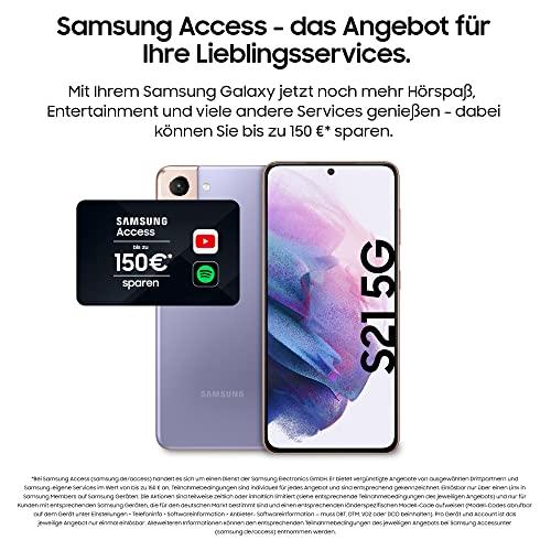 Samsung Galaxy S21 5G, Android Smartphone ohne Vertrag, Triple-Kamera, Infinity-O Display, 128 GB Speicher, leistungsstarker Akku, Phantom Violet