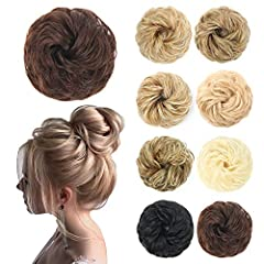 Material:100% High Quality Fiber Synthetic wigs with no shedding,tangling and odor.Soft,strong,full and adjustable.This is messy hair bun,Create a messy and fluffy look. Style an up-do easily:It only takes you 30 seconds to comb your hair and you can...