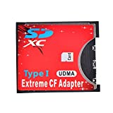 LEAGY Adaptador de tarjeta SD CF inalámbrico Wifi SD MMC SDHC SDXC ranura a CF Tipo I Compact Flash Memory CF Card Adaptador de alta velocidad para cámara SLR