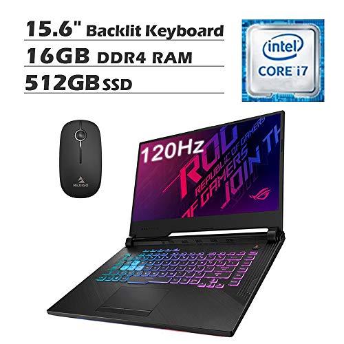 2020 Newest Asus ROG 15.6 Inch 120Hz FHD 1080P Gaming Laptop| Intel 6-Core i7-9750H up to 4.50 GHz| GeForce GTX 1650 4GB| 16GB RAM| 512GB SSD| Backlit KB| Win 10 + NexiGo Wireless Mouse Bundle