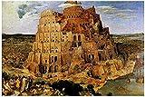 TLMYDD Bruegels La Torre De Babel Circa Puzzles para Adultos, 1000 Piezas Niños Jigsaw Puzzles Juego Juguetes Regalo para Niños Niños Y Niñas, 20'x 30' Día de San Valentín Presente