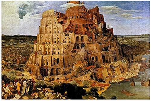 Bruegels La Torre De Babel Circa Puzzles para Adultos, 1000 Piezas Niños Jigsaw Puzzles Juego Juguetes Regalo para Niños Niños Y Niñas, 20