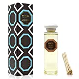 HOUZZ Interior Reed Diffuser Refill Oil Dark Amber & Sandalwood – Reed Sticks Included – Amber Resin, Sandalwood & Vanilla Orchid – No Sulfates or Parabens – All Natural – Made in The USA