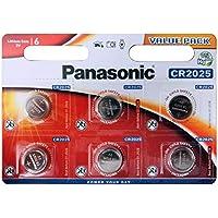 Panasonic CR2025 - Pilas de botón de litio (6unidades)