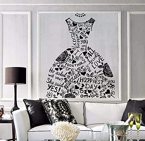 Etiqueta de la pared de moda vestido de novia tienda nupcial etiqueta...