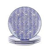 Vancasso Takaki Servizio da tavola in porcellana a 4 pezzi, piatto Ø 27 cm Piatto da port...