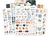 Oriday, Planner Stickers 6 Sheets, Set of 391 Stickers for Daily Life Productivity for Monthly,...