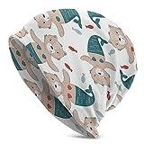 AOOEDM Gorro de punto con diseño de sirena y gato marrón, holgado, resistente al viento, para el cabello, duradero, elástico, para exteriores, multifunción, divertido, con calavera, absorción del sud