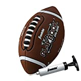 Franklin Sports Playbook Mini Football - Mini Football for Kids - Soft Foam Cover - Extra Grip Laces - Play Diagrams Included - Perfect First Football - Air Pump Included