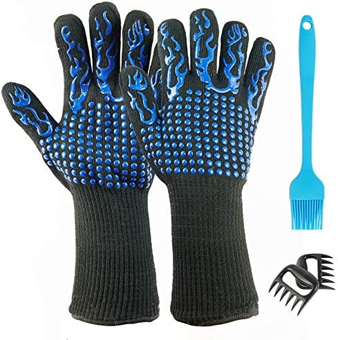 Tormays BBQ Grill Gloves Set Fireproof Barbecue Oven Gloves Kitchen Baking Gloves Protect to product image