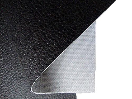 Tukan-tex Kunstleder Möbel Textil Meterware Polster Stoff PVC - Schwarz