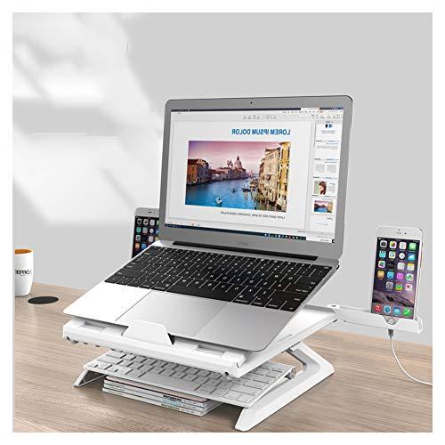 """SSSY Supporto PC Portatile, Angolazione Regolabile Porta Notebook Pieghevole Supporto, Regolabile in Altezza e Inclinazione, per 12""""–17"""" Laptops"""