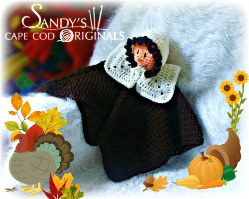 Pilgrim Girl Lovie Blanket Crochet Pattern