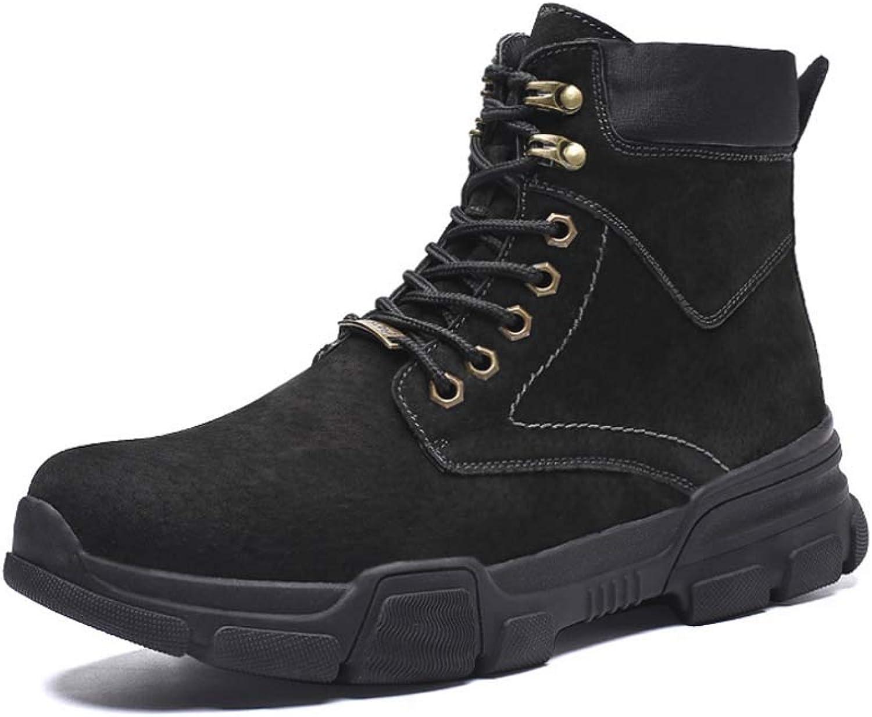 HYLFF Men Women High Boots Desert Boots Autumn Winter New Outdoor Tooling Boots Couple Martin Boots Student shoes Combat Boots