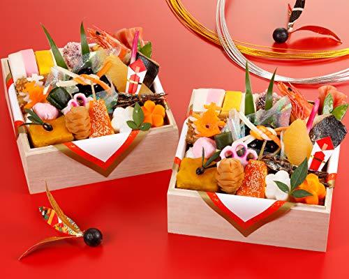京都の料亭 濱登久 おせち料理 2021 個食二段重 24品x2段 盛り付け済み 冷蔵 生おせち お届け日:12月31日