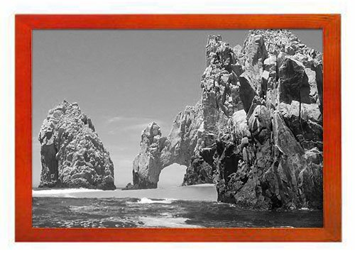 PUPBEAMO Cabo San Lucas, Mexico - Art Print Picture Frame Photo Frames Made of Solid Wood For Table Top (Walnut,9x7 Inches)