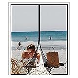 MAGZO Magnetic Screen Door 72'' x 80'' Black, Durable Fiberglass Material Fits Door Size 72' x 80' Middle Opening French Door Screen, Great for Camper Van, Easy to Hang Up