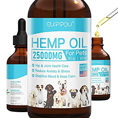 SUPPOU Hemp Oil for Dogs Cats - 25000 MG - Pet ...