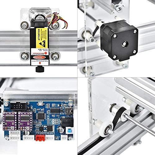 M/áquina Grabadora L/áser,m/áquina de Tallado Kit de Bricolaje,Mayor /Área de Grabado 650x500 mm,2500mW Impresora L/áser de Potencia Ajustable,Talla Y Corte Con Gafas Protectoras TOPQSC