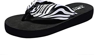 Dubocu LLC Women's Fashion Zebra Flats Flip-Flops Beach Anti-Slip Post Slippers