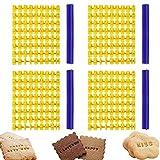 Stampini per Biscotti Lettere Lettere Stampini Biscotti Lettera di Biscotto Stamp Stampini per Pasta di Zucchero Stampo Biscotti Timbro Strumenti per Glassare e Decorare Torte 4 Pezzi