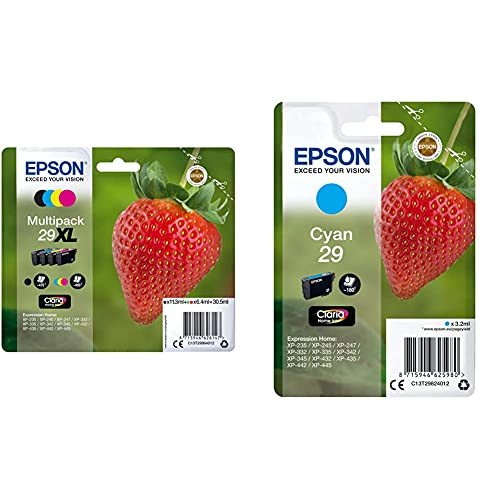 Epson C13T29964022 - Cartucho De Tinta, Multi-Pack XL + C13T29824022 - Cartucho De Tinta