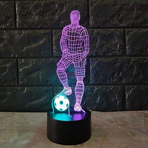 Grappige 3D Soccer Touch tafellamp 7 kleuren veranderende bureaulamp USB Powered Kleurrijk