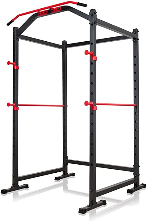 Power rack, gabbia di bodybuilding 2 x sicurezza spotter, 2 x j-ganci, barre inseribili ms-u112 marbo sport