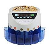 FORAVER Coin Counter UK Automatic Electronic Coin Counting Machine 300 Coins/min Batch Counting