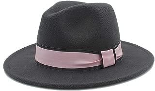 2019 Good Hat For Men Women New Winter Fedora Hat With Pink Cloth Belt Panama Hat Wide Brim Church Fascinator Hat Travel Hat, Size 56-58CM