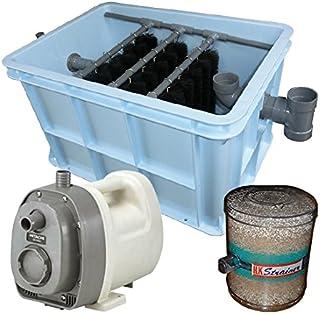1~3tの池・水槽用濾過槽+日立 ハンディポンプ CB-P80X+HKストレーナー(庭池仕様)(取上げ用網付)
