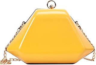 Tooba Classy Girl's Clutch (Yellow)