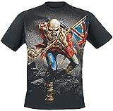 Iron Maiden TheTrooper Hombre Camiseta Negro XL, 100% algodón, Regular