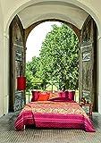 Bassetti Biancheria da letto in raso makò Tosca O1 1 copripiumino 155 x 220 cm + 1 federa 80 x 80 cm