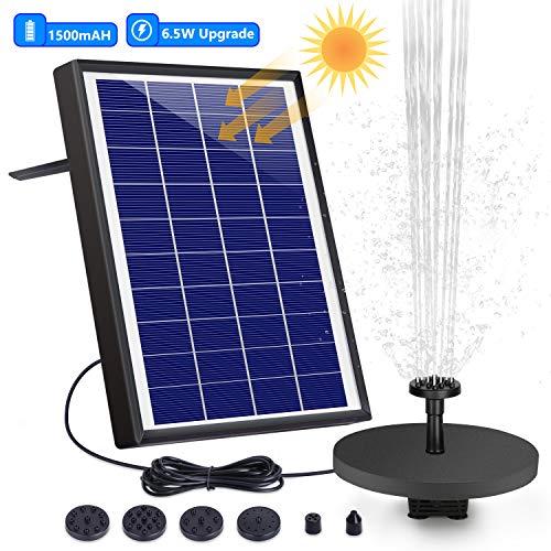 professionnel comparateur Fontaine solaire extérieure AISITIN 6,5 W, pompe solaire de bassin avec batterie et 6 buses, pour basse… choix