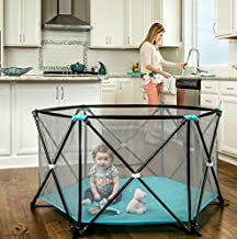 Regalo My Play Portable Play Yard Indoor and Outdoor, Bonus Kit, Includes Carry Case, Washable, Aqua, 6-Panel