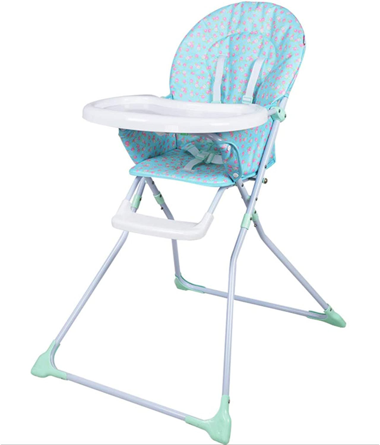 Baby Highchairs Dining Table Chairs Foldable Portable Plastic Washable Eating Chair ZHANGQIANG (color   Cartoon Cloth, Size   Large)