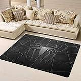 Zmacdk Alfombra de área grande de Spiderman para sala de estar, dormitorio, base antideslizante para jardín de infantes de 6 x 7 pies (180 x 210 cm), Spiderman