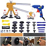 Auto Dent Puller Kit - 38PCS Paintless Dent Repair Tool, Adjustable Width Golden Lifter Dent Puller for Car Body Hail Dent Removal Dent Remover Automobile Body Repair