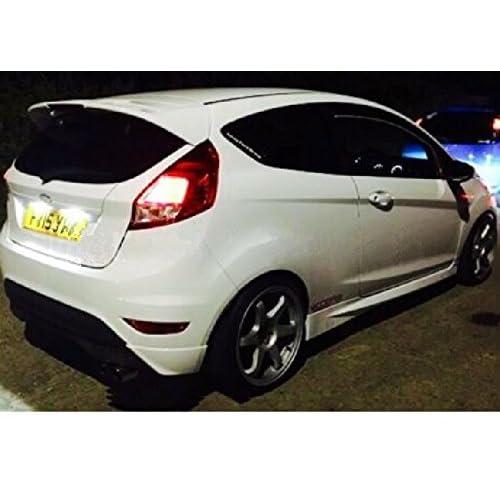 Ford Fiesta Mk6 Mk 6 ST Xenon Pure White LED Number Plate Light Bulbs ErrorFree
