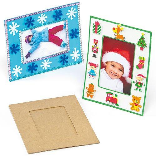 Baker Ross fotolijst van karton voor kinderen om te beschilderen en te versieren (4 stuks)