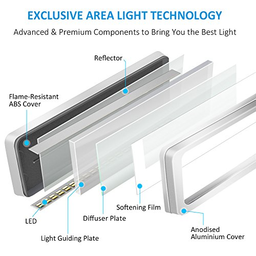 BYB E430Metal arquitecto LED escritorio lámpara de giro, brazo Task lámpara con abrazadera, Eye-Care Lámpara de mesa de redacción, intensidad regulable oficina luz, 4modos de iluminación, 6Nivel Dimmer, control táctil, función de memoria, Plata