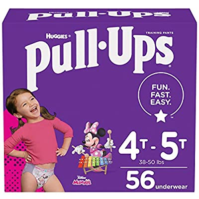 Pull-Ups Girls' Potty Training Pants Training Underwear Size 6, 4T-5T, 56 Ct from Kimberly-Clark Corp.