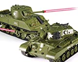 POCO DIVO Sherman vs Pershing Infrared Battle Tanks 2-Set Combat Fight Pair 2.4Ghz RC Battling Panzer Remote Control US Model Tank M4A3 M26